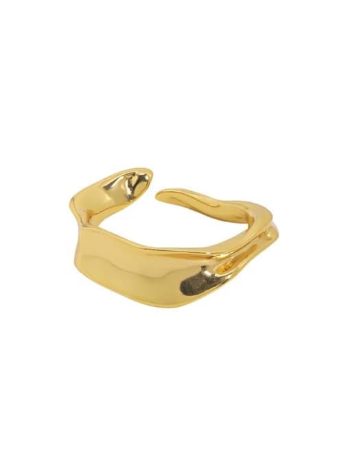 Jb097 [Korean K gold] 925 Sterling Silver Irregular Vintage Band Ring